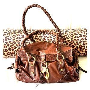 Francesco Biasia Large brown leather satchel